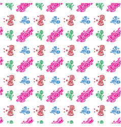 colorful happy birthday pattern background vector image