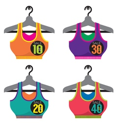 Colorful Sport Bras On Sale vector