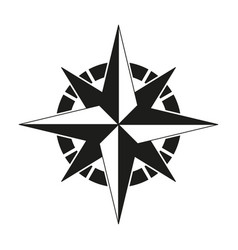 compass of black icon vector image