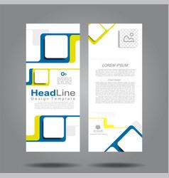 Design vertical template flyer banner vector