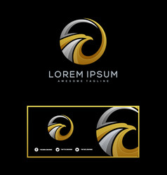 eagle luxury template vector image