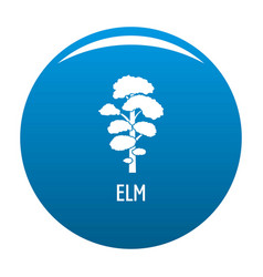 Elm tree icon blue vector