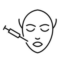 Face surgery icon outline style vector
