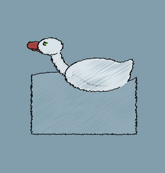 flat shading style icon kids duck automatic vector image
