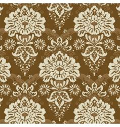 floral line pattern vector image