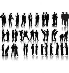 forty businessmen vector image vector image