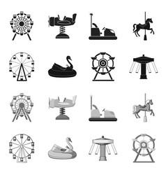 Fun and horse symbol set vector