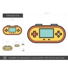 Gamepad line icon vector image