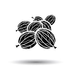Gooseberry icon vector