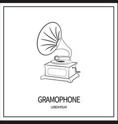 Gramophone isolated icon vector