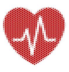 Halftone dot cardiology icon vector