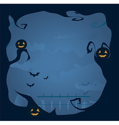 Halloween frame background vector image