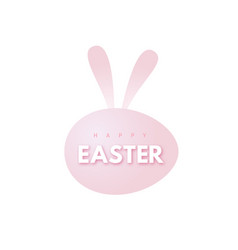 happy easter design with egg and bunny rabbit ears vector image