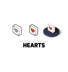 Hearts icon in different style vector image