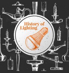 History of lighting vector