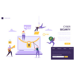 internet password security concept landing page vector image