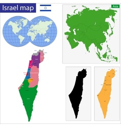 Israel map vector image