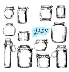 Jars Set of vector