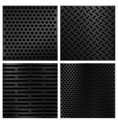 Kevlar fiber carbon textures set vector
