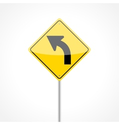 Left Curve Sign vector image