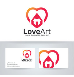 Love art logo design vector