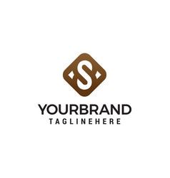 luxury initial letter s symbol logo template vector image