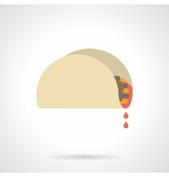Mexican snacks flat color icon vector image