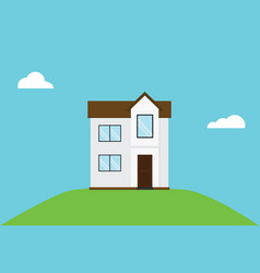minimalist house design inspiration with blue sky vector image