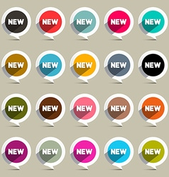 New Circle Labels Set vector