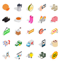New collection icons set isometric style vector