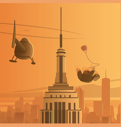 new york city skydiving vector image