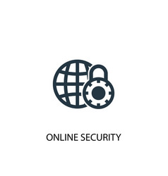 online security icon simple element vector image