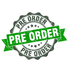 Pre order stamp sign seal vector