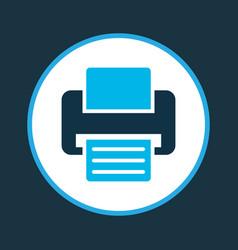 Printer icon colored symbol premium quality vector