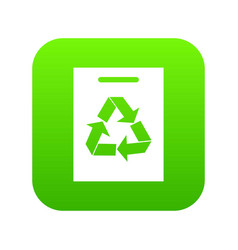 recycling icon digital green vector image