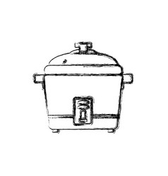 rice cooker household appliance vector image