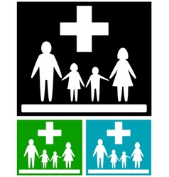 set family medical icons vector image