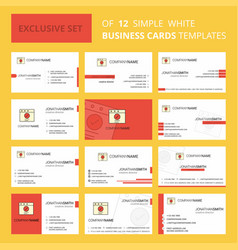 set of 12 ok creative busienss card template vector image