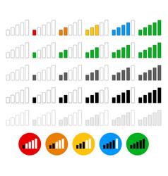 Signal strength indicator set - flat graphics vector