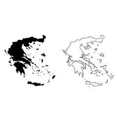 Simple only sharp corners map greece drawing vector