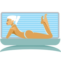 Tanning girl vector