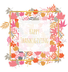 Thanksgiving card with autumn abstract doodle vector