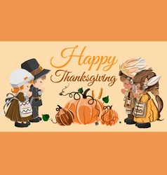 Thanksgiving day Characters vector