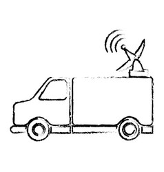 Truck antenna communication broadcast signal vector