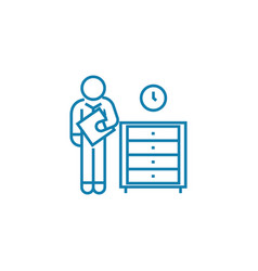 urgent paperwork linear icon concept urgent vector image