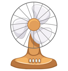Vintage electric fan isolated on white background vector