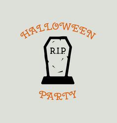 Vintage halloween typography badge graphics vector