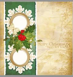 vintage retro christmas vector image