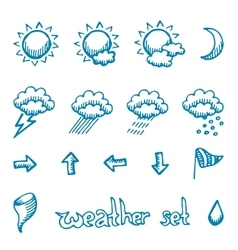 Weather symbols set vector image