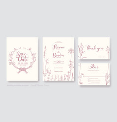 wedding invitation card save date rsvp vector image